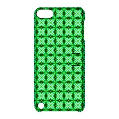 Green Abstract Tile Pattern Apple Ipod Touch 5 Hardshell Case With Stand