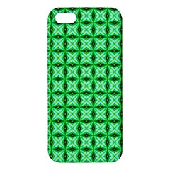 Green Abstract Tile Pattern Apple Iphone 5 Premium Hardshell Case