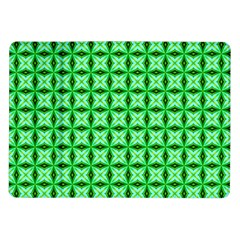 Green Abstract Tile Pattern Samsung Galaxy Tab 10.1  P7500 Flip Case