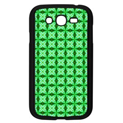 Green Abstract Tile Pattern Samsung Galaxy Grand Duos I9082 Case (black)