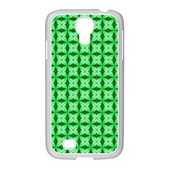Green Abstract Tile Pattern Samsung Galaxy S4 I9500/ I9505 Case (white)