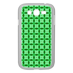 Green Abstract Tile Pattern Samsung Galaxy Grand Duos I9082 Case (white)