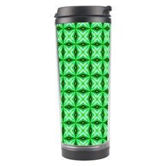 Green Abstract Tile Pattern Travel Tumbler
