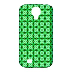 Green Abstract Tile Pattern Samsung Galaxy S4 Classic Hardshell Case (pc+silicone)