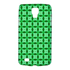 Green Abstract Tile Pattern Samsung Galaxy S4 Active (i9295) Hardshell Case