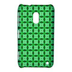 Green Abstract Tile Pattern Nokia Lumia 620 Hardshell Case