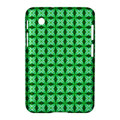 Green Abstract Tile Pattern Samsung Galaxy Tab 2 (7 ) P3100 Hardshell Case