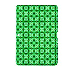 Green Abstract Tile Pattern Samsung Galaxy Tab 2 (10.1 ) P5100 Hardshell Case