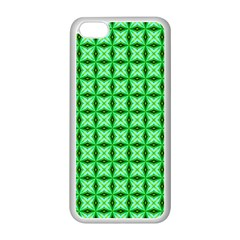Green Abstract Tile Pattern Apple iPhone 5C Seamless Case (White)