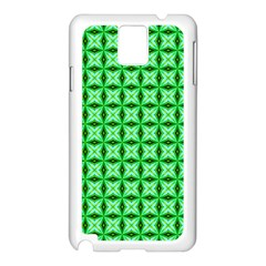 Green Abstract Tile Pattern Samsung Galaxy Note 3 N9005 Case (White)