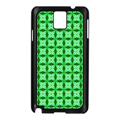 Green Abstract Tile Pattern Samsung Galaxy Note 3 N9005 Case (Black)