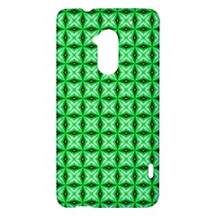 Green Abstract Tile Pattern HTC One Max (T6) Hardshell Case
