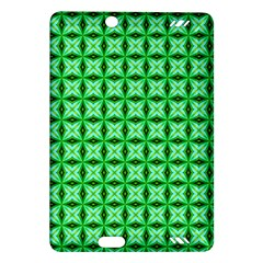 Green Abstract Tile Pattern Kindle Fire Hd (2013) Hardshell Case