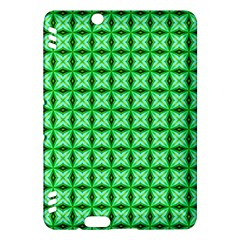 Green Abstract Tile Pattern Kindle Fire HDX Hardshell Case
