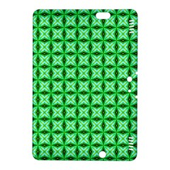 Green Abstract Tile Pattern Kindle Fire HDX 8.9  Hardshell Case