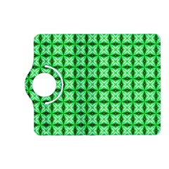 Green Abstract Tile Pattern Kindle Fire Hd (2013) Flip 360 Case