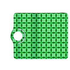 Green Abstract Tile Pattern Kindle Fire HDX 8.9  Flip 360 Case