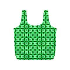 Green Abstract Tile Pattern Reusable Bag (S)