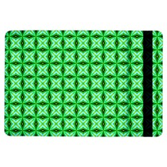Green Abstract Tile Pattern Apple iPad Air Flip Case