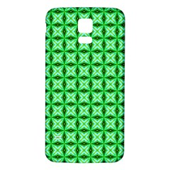 Green Abstract Tile Pattern Samsung Galaxy S5 Back Case (white)