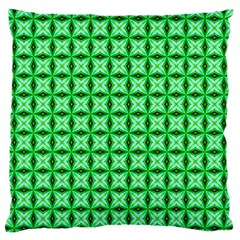 Green Abstract Tile Pattern Standard Flano Cushion Case (One Side)