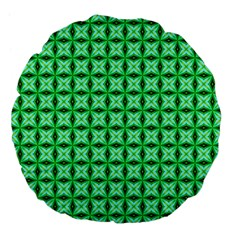 Green Abstract Tile Pattern 18  Premium Flano Round Cushion