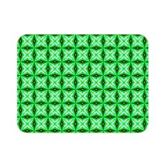 Green Abstract Tile Pattern Double Sided Flano Blanket (mini)