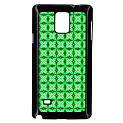 Green Abstract Tile Pattern Samsung Galaxy Note 4 Case (Black)