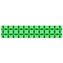Green Abstract Tile Pattern Flano Scarf (small)