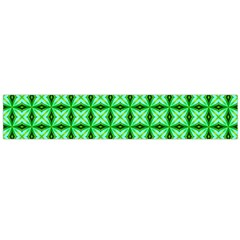 Green Abstract Tile Pattern Flano Scarf (large)