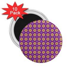 Purple Decorative Quatrefoil 2 25  Button Magnet (10 Pack)