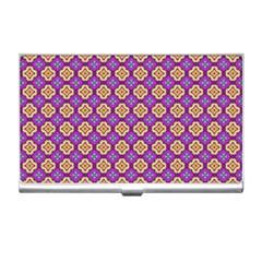 Purple Decorative Quatrefoil Business Card Holder