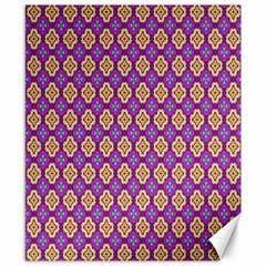 Purple Decorative Quatrefoil Canvas 8  X 10  (unframed)