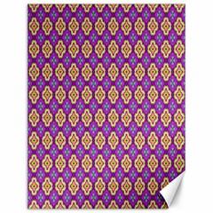 Purple Decorative Quatrefoil Canvas 12  X 16  (unframed)
