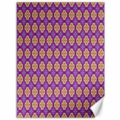 Purple Decorative Quatrefoil Canvas 36  X 48  (unframed)