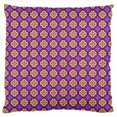 Purple Decorative Quatrefoil Large Cushion Case (two Sided)