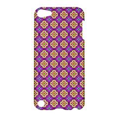 Purple Decorative Quatrefoil Apple Ipod Touch 5 Hardshell Case