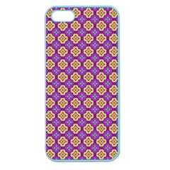 Purple Decorative Quatrefoil Apple Seamless Iphone 5 Case (color)