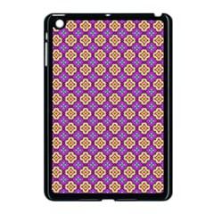 Purple Decorative Quatrefoil Apple Ipad Mini Case (black)