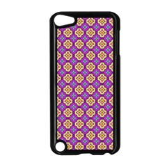 Purple Decorative Quatrefoil Apple Ipod Touch 5 Case (black)