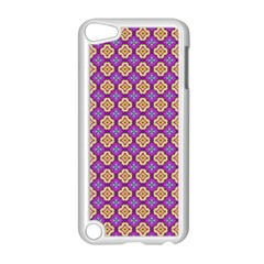Purple Decorative Quatrefoil Apple Ipod Touch 5 Case (white)