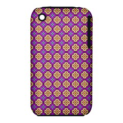 Purple Decorative Quatrefoil Apple Iphone 3g/3gs Hardshell Case (pc+silicone)