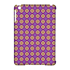 Purple Decorative Quatrefoil Apple Ipad Mini Hardshell Case (compatible With Smart Cover)