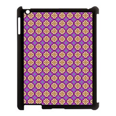 Purple Decorative Quatrefoil Apple Ipad 3/4 Case (black)