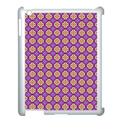 Purple Decorative Quatrefoil Apple Ipad 3/4 Case (white)
