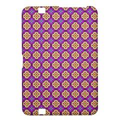 Purple Decorative Quatrefoil Kindle Fire Hd 8 9  Hardshell Case