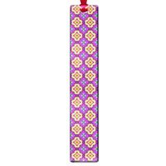 Purple Decorative Quatrefoil Large Bookmark
