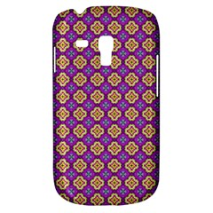 Purple Decorative Quatrefoil Samsung Galaxy S3 Mini I8190 Hardshell Case