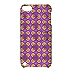 Purple Decorative Quatrefoil Apple Ipod Touch 5 Hardshell Case With Stand