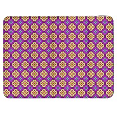Purple Decorative Quatrefoil Samsung Galaxy Tab 7  P1000 Flip Case